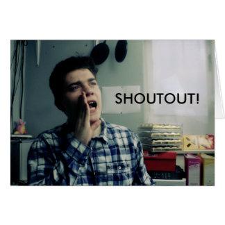 Tarjeta de Shoutout