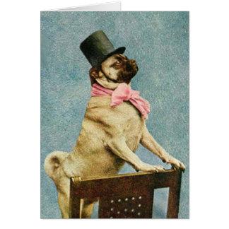 Tarjeta de Stereoview del perro del barro amasado