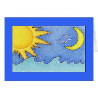 Tarjeta de Sun y del día de fiesta de la luna
