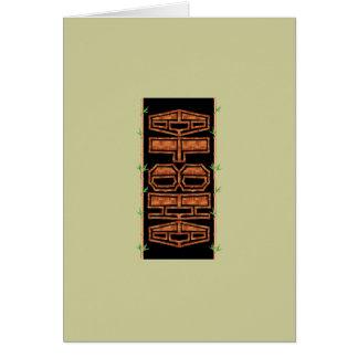 Tarjeta de Tiki