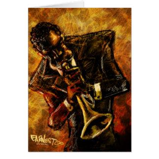 Tarjeta de trabajos del jazz