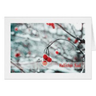 Tarjeta de Urglaawe Yuul:: Bayas del invierno