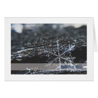 Tarjeta de Urglaawe Yuul:: Copo de nieve (DEI)