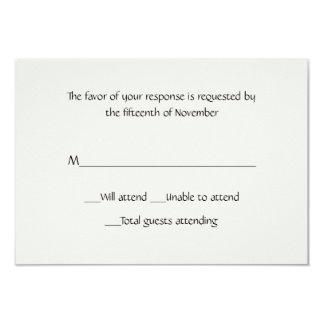 Tarjeta de uso múltiple de la respuesta del blanco invitación 8,9 x 12,7 cm