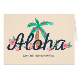 Tarjeta de verano de la hawaiana