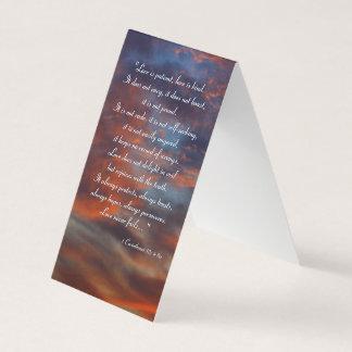 Tarjeta De Visita 1 Corinthians 13; 4-8al | inspirado