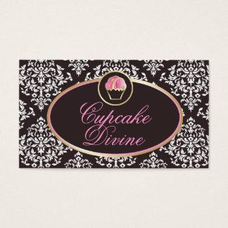 Tarjeta De Visita 311-Cupcake adivinan el damasco sólido