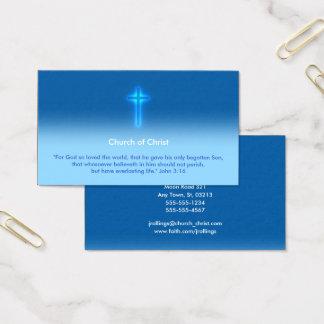 Tarjeta De Visita 3:16 de Juan - iglesia de Cristo