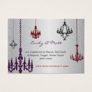 Tarjeta De Visita 3 bodas rojos y negros de plata del damasco de las