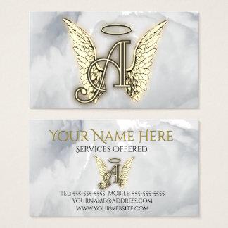 Tarjeta De Visita A está para la inicial de la letra del alfabeto