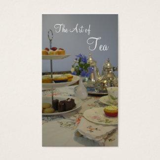 Tarjeta De Visita abastecedor del té de tarde