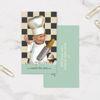 Tarjeta De Visita Abastecimiento de la panadería del chef de