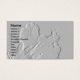 Tarjeta De Visita Abeja en diseño de los pétalos de la flor