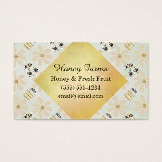 Tarjeta De Visita Abeja y flor de la miel