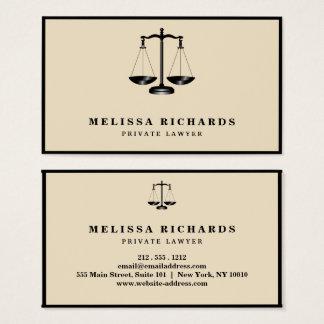 Tarjeta De Visita Abogado clásico del abogado