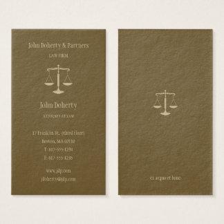 Tarjeta De Visita Abogado en el oro elegante de la ley el |