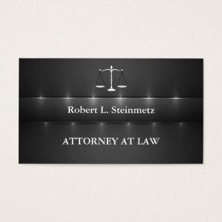 Tarjeta De Visita Abogado simple de la elegancia en la ley