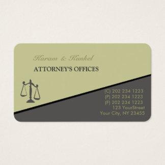 Tarjeta De Visita Abogados inclinados de moda modernos del abogado