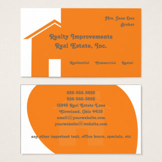 Tarjeta de visita abstracta de las propiedades