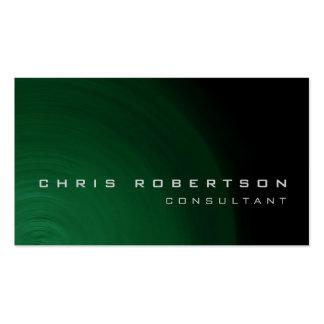 Tarjeta de visita abstracta verde negra del consul
