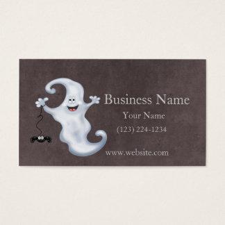 Tarjeta De Visita Abucheo del fantasma de Halloween