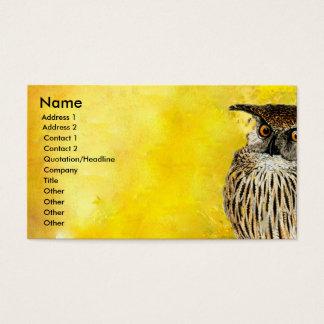 Tarjeta De Visita Acuarelas profesionales del diseño el   del pájaro