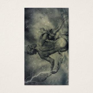 Tarjeta De Visita acuario de la astrología del zodiaco de la