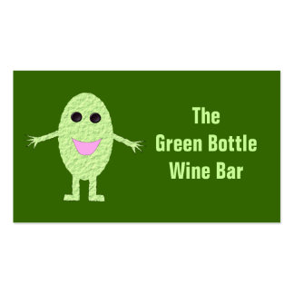 Tarjeta de visita adaptable del bar de vinos
