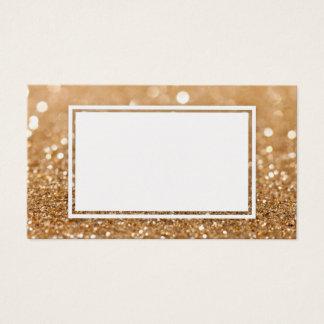 Tarjeta de visita adaptable del brillo del oro del