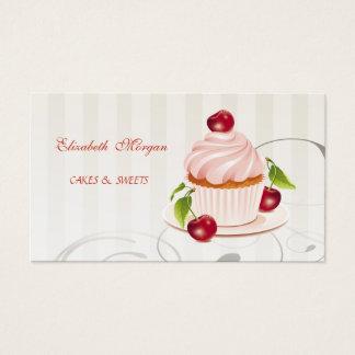Tarjeta De Visita Adorable lindo, rayado, magdalena