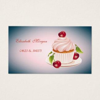 Tarjeta De Visita Adorable lindo, rayado, magdalena,