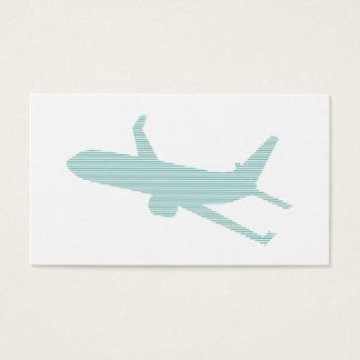 Tarjeta De Visita Aeroplano - tiras - azul