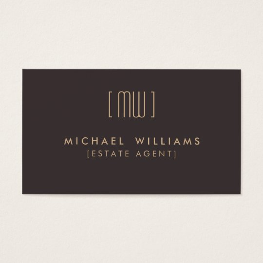 Tarjeta De Visita Agente Inmobiliario