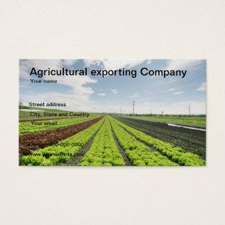 Tarjeta de visita agrícola de la empresa