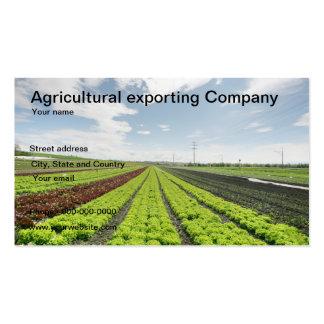 Tarjeta de visita agrícola de la empresa exportado