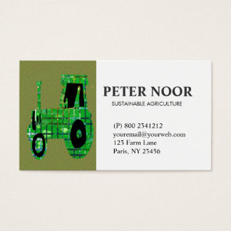 Tarjeta De Visita Agricultura del tractor