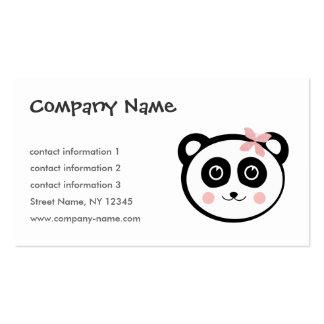 Tarjeta de visita alegre de la panda