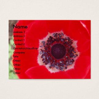 Tarjeta De Visita Amapola roja