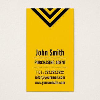 Tarjeta de visita amarilla moderna del agente de