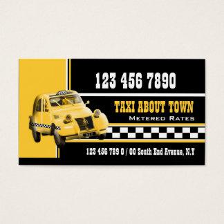 Tarjeta De Visita Amarillo blanco negro del taxi