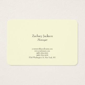 Tarjeta De Visita Amarillo minimalista simple llano elegante de la
