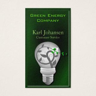 Tarjeta de visita ambiental de la energía verde