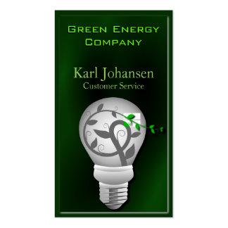 Tarjeta de visita ambiental de la energía verde tarjetas de visita