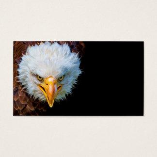 Tarjeta de visita americana enojada del águila
