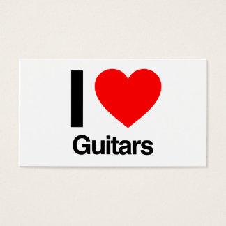 Tarjeta De Visita amo las guitarras