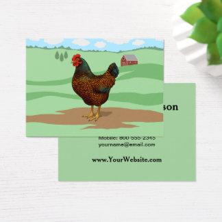Tarjeta De Visita Amo mis pollos de Barnevelder