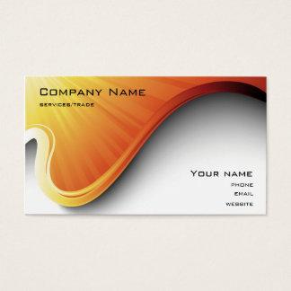 tarjeta de visita anaranjada del diseño