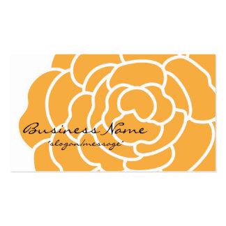 Tarjeta de visita anaranjada grande de la flor