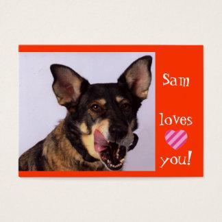 Tarjeta De Visita Ángeles de Sam en un correo