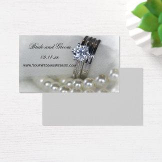 Tarjeta De Visita Anillos y perlas de diamante que casan el Web site